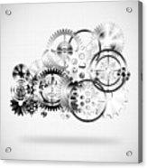 Cloud Made By Gears Wheels  Acrylic Print by Setsiri Silapasuwanchai