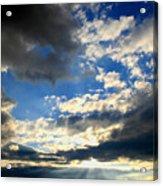 Clouded Sun Rays Acrylic Print
