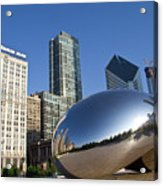 Cloudgate Reflects Acrylic Print