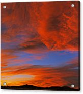 Clouds In The Sky At Sunset, Taos, Taos Acrylic Print