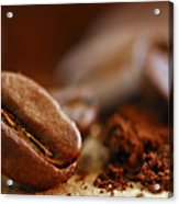 Coffee Beans And Ground Coffee Acrylic Print