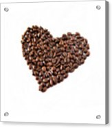 Coffee Heart Acrylic Print by Linde Townsend