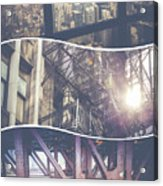 Collage Of Chicago Acrylic Print