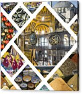 Collage Of Istanbul Acrylic Print