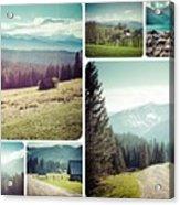 Collage Of Tatra Mountains Acrylic Print