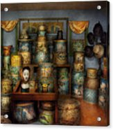 Collector - Hats - The Hat Room Acrylic Print by Mike Savad