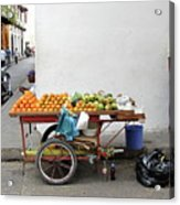 Colombia Fruit Cart Acrylic Print