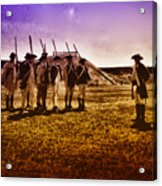 Colonial Soldiers At Fort Mifflin Acrylic Print