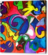 Color Shape Study Acrylic Print