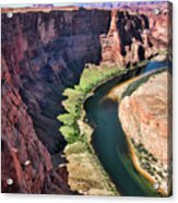 Colorado River Flows Around Horseshoe Bend  Acrylic Print