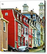 Colorful Houses In St. Johns In Newfoundland Acrylic Print