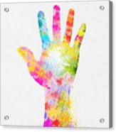 Colorful Painting Of Hand Acrylic Print