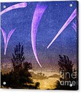 Comets In Night Sky Acrylic Print