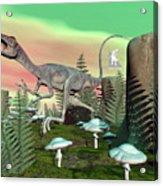Compsognathus Dinosaur - 3d Render Acrylic Print