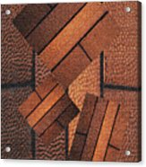 Copper Plate Abstract Acrylic Print
