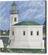 Coquille River Lighthouse At Bandon Oregon Acrylic Print