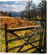 Countryside Gate Acrylic Print