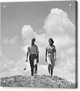 Couple Out Golfing, C.1930s Acrylic Print
