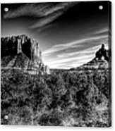 Courthouse Butte And Bell Rock Sedona Arizona Acrylic Print