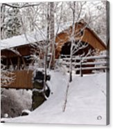 Covered Bridge At Olmsted Falls - 2 Acrylic Print