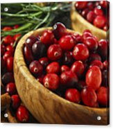 Cranberries In Bowls Acrylic Print