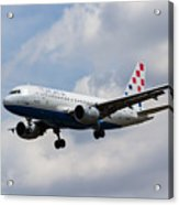 Croatia Airlines Airbus A319 Acrylic Print