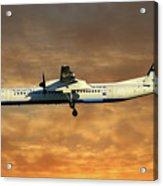 Croatia Airlines Bombardier Dash 8 Q400 Acrylic Print