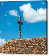 Cross And Tiled Roof Acrylic Print