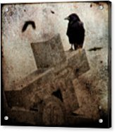 Cross With Crow Acrylic Print