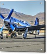 Czech Mate Engine Start Sunday Afternoon Gold Unlimited Reno Air Races Acrylic Print