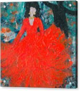 Dancing Joyfully With Or Without Ned Acrylic Print by Annette McElhiney