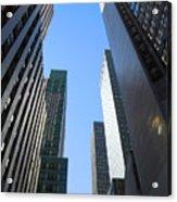 Dark Manhattan Skyscrapers Acrylic Print