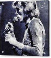 David Bowie By Mary Bassett Acrylic Print