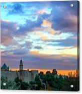 David Tower At Sunset  Acrylic Print
