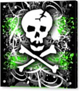 Deathrock Skull Acrylic Print