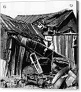 Decaying House Car Ghost Town Pearce Arizona 1968 Acrylic Print