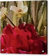 Decorative Mixed Media Floral A3117 Acrylic Print