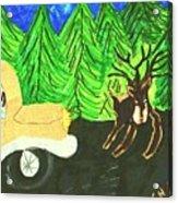 Deer Crossing Acrylic Print