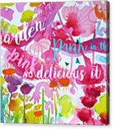 Delicious Pink Acrylic Print