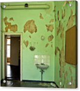 Derelict Hospital Room Acrylic Print