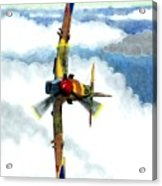 Desert Spitfire Acrylic Print