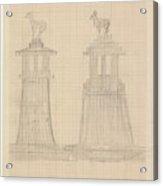 Design For A Monumental Bank In Honor Of Mayor Of Haarlem Cornelis Maarschalk Of Egmond And Rinnegom Acrylic Print