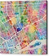Detroit Michigan City Map Acrylic Print