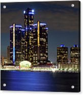 Detroit Skyline Panorama Acrylic Print