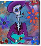 Dia De Los Muertos Mariachi Acrylic Print