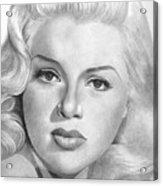 Diana Dors Acrylic Print