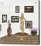 digital exhibition _ Sculpture 13 of girl  Acrylic Print