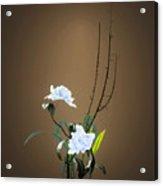 Digital Flower Arrangement Acrylic Print by GuoJun Pan