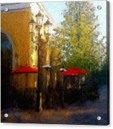 Dining At The Village Acrylic Print