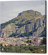 Distant View Of Cefalu Sicily  Acrylic Print